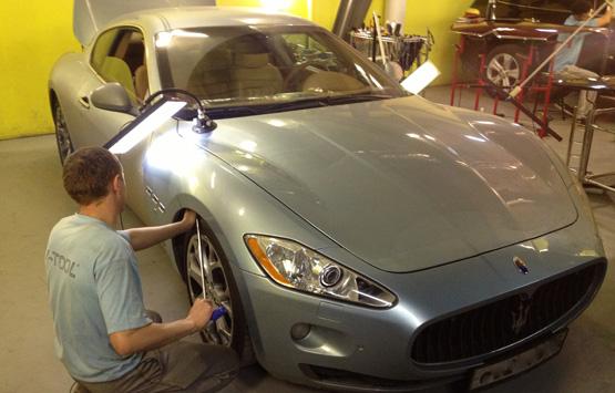 Удаление мелких вмятин на автомобиле своими руками видео